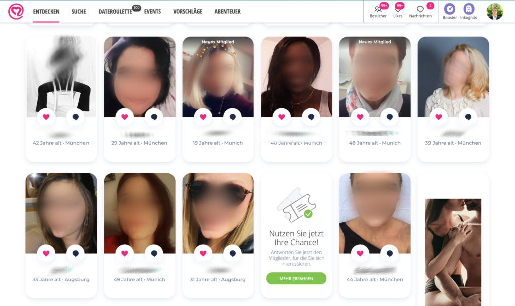 Neu.de Suchergebnisse Frauenprofile